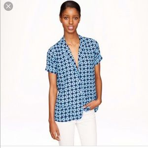 J Crew Piped Top